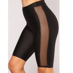 Fashion Nova Layla Fishnet Biker Shorts